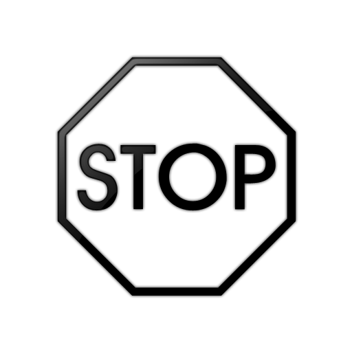 54+ Stop Sign Clip Art Black And White.