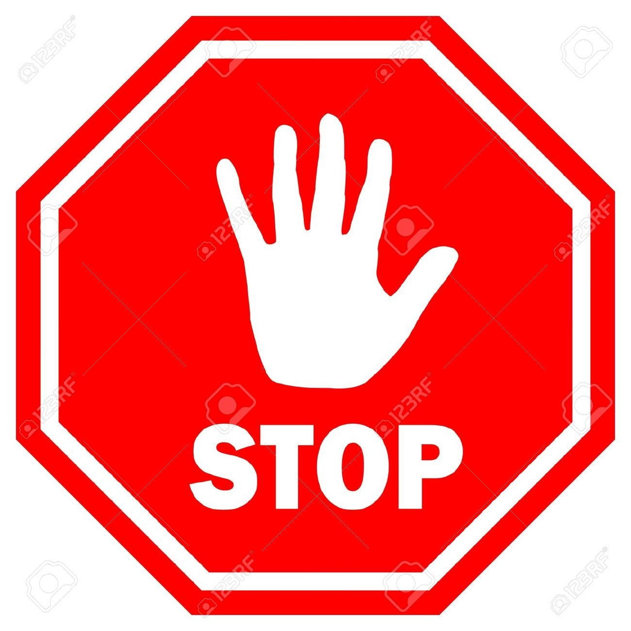 Stop sign hand clipart.