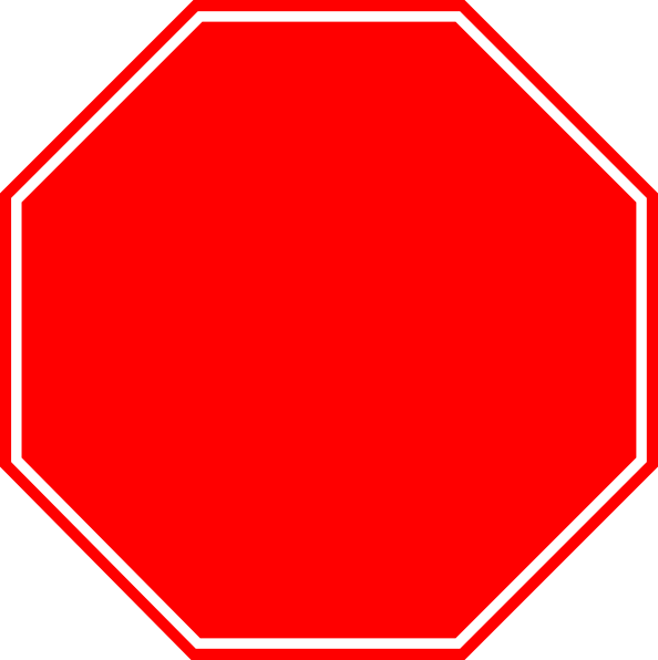 Blank Stop Sign Clip Art.
