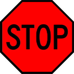 Stop sign template printable clipart.