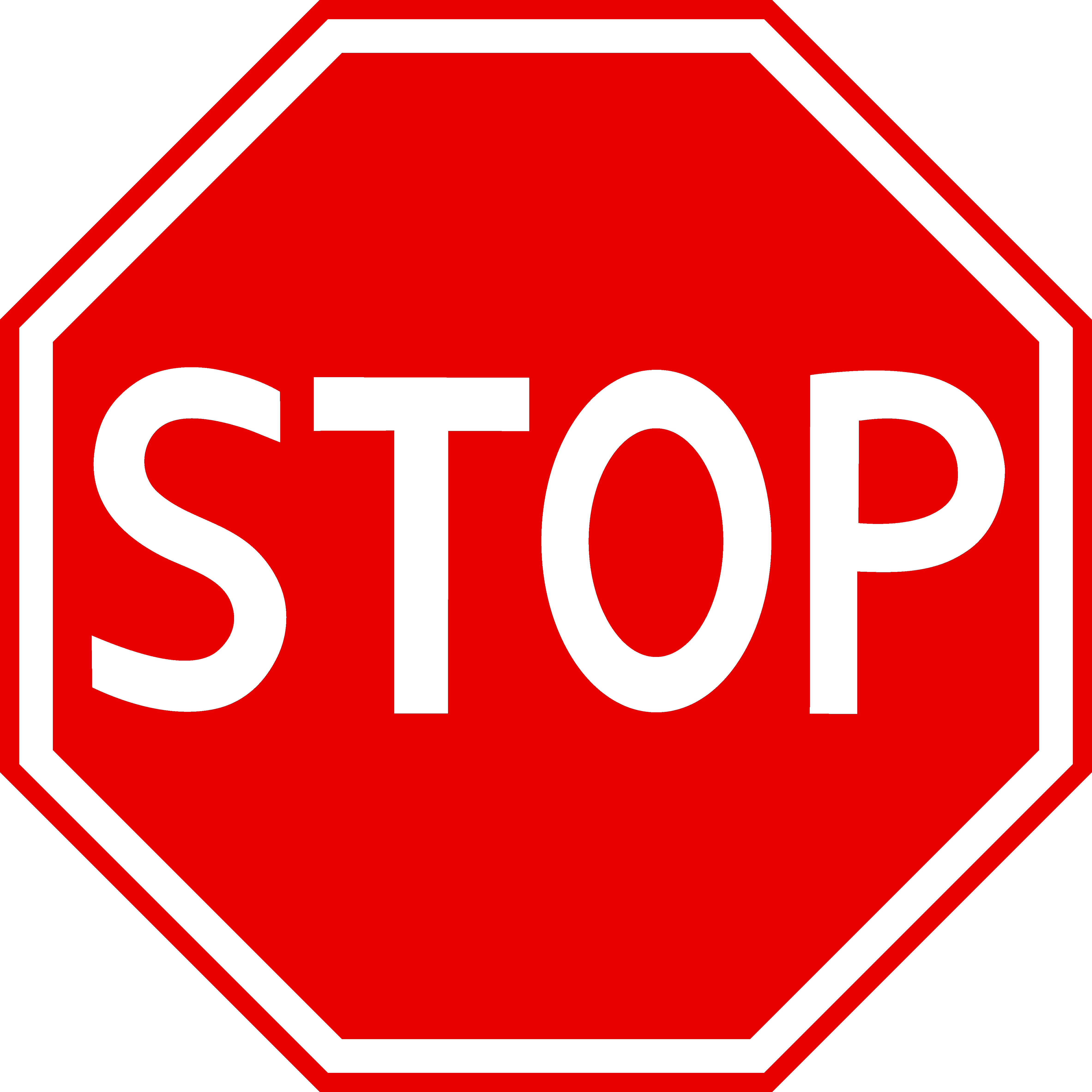 Red Stop Sign Clipart.