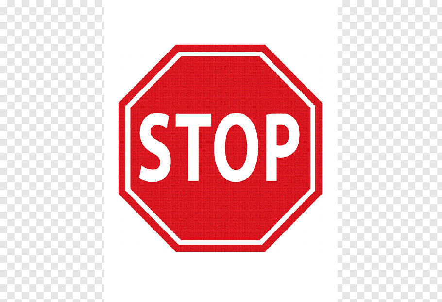 White and red stop street sign, Stop sign Car Traffic sign.