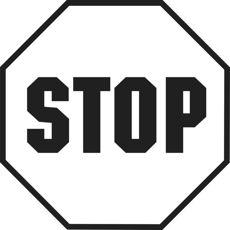 stop sign outline.