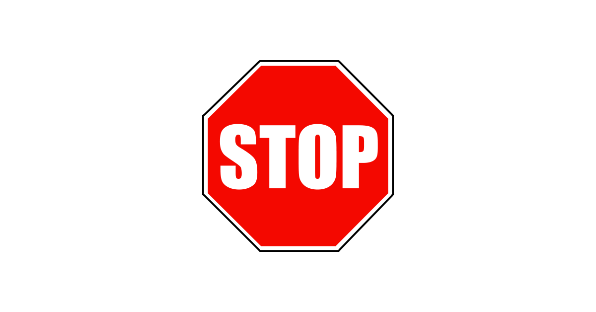 Stop Sign PNG Image.