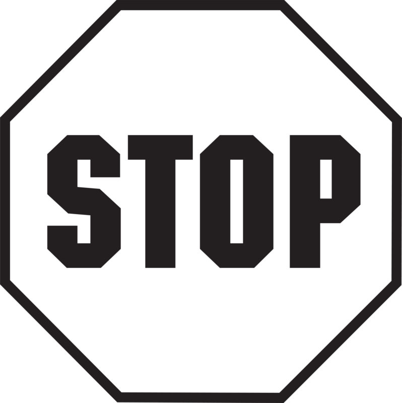 Stop Sign Shape Clip Art (35+) Flower Black And White Wall.