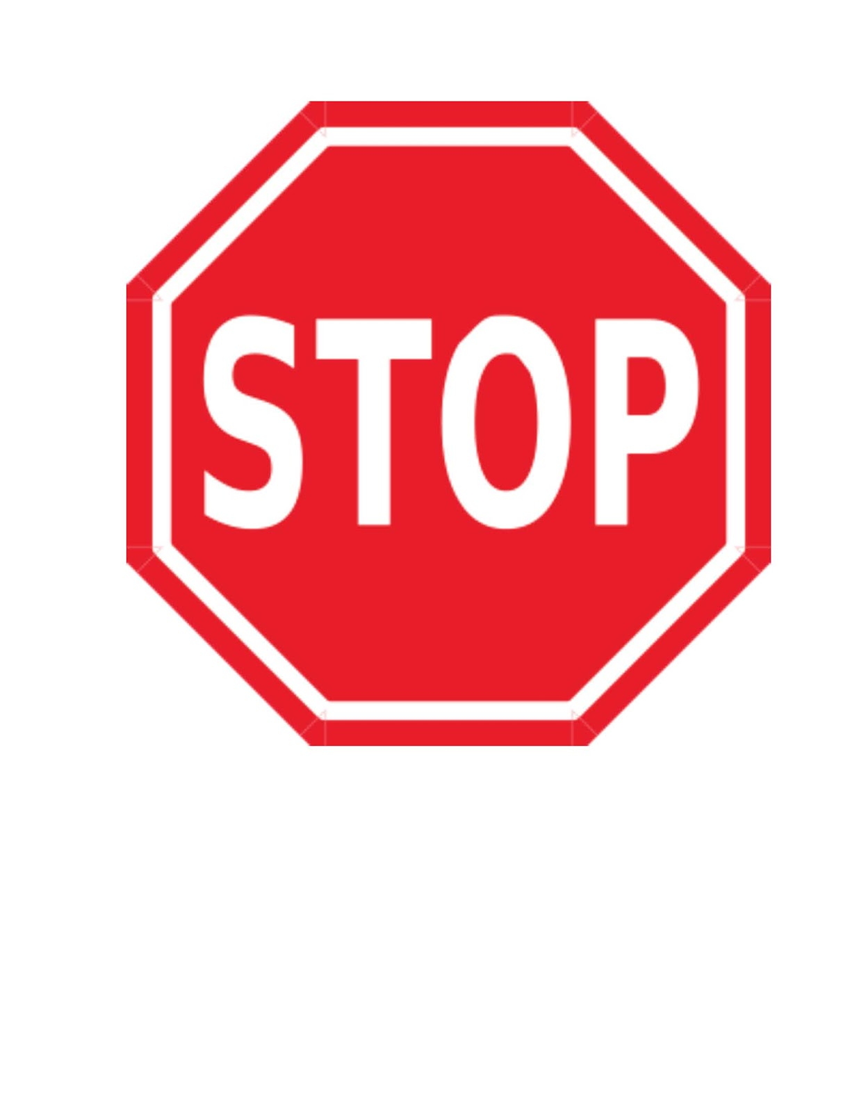 Clipart Of A Stop Sign.
