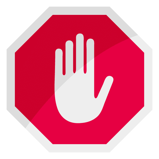Stop sign icon hand.