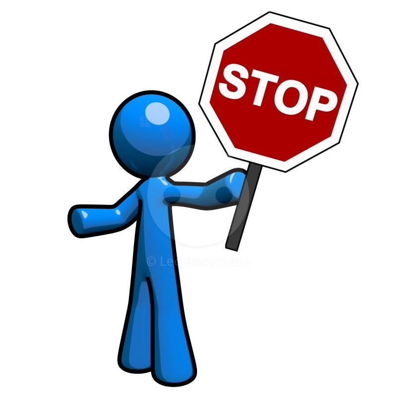Collection of Stop sign clipart.