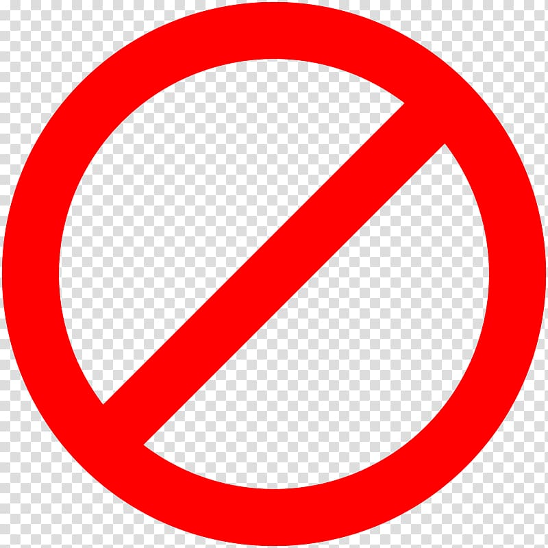 No symbol Sign , sign stop transparent background PNG.