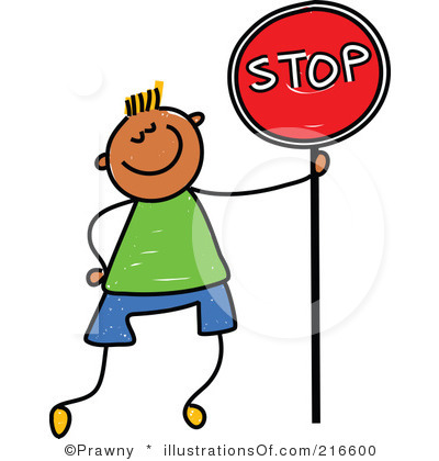 Cartoon Stop Sign Clipart.