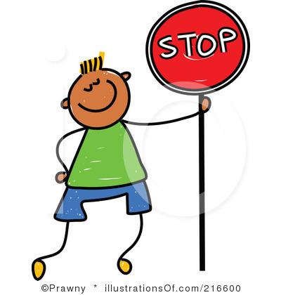 Cartoon Stop Sign Clipart.