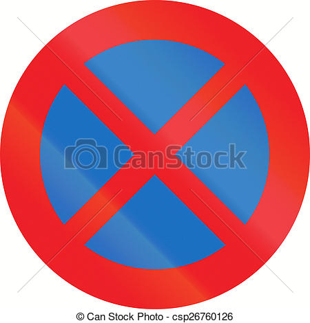 Clip Art of Stopping Restriction in Austria.