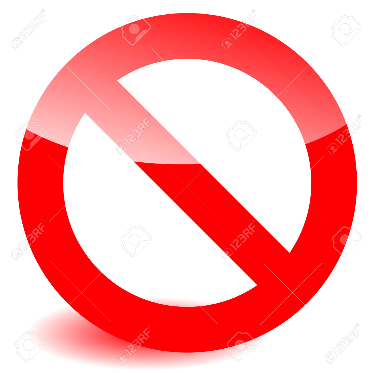 Prohibition, Restriction Sign Vector For Limit, Stop, Disallowed.