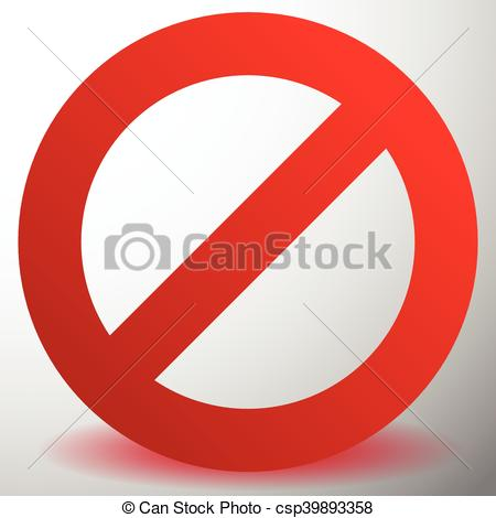 Clipart Vector of Red prohibition, restriction sign.