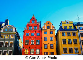 Stock Images of Stortorget in Gamla stan, Stockholm csp9055295.