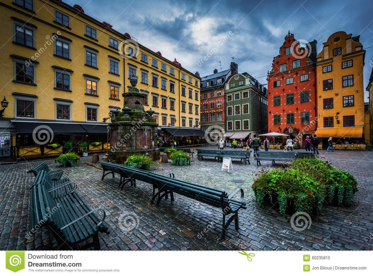 Stortorget, In Galma Stan, Stockholm, Sweden. Editorial Image.