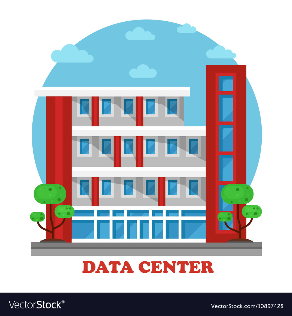 Architecture of data center building for storage.