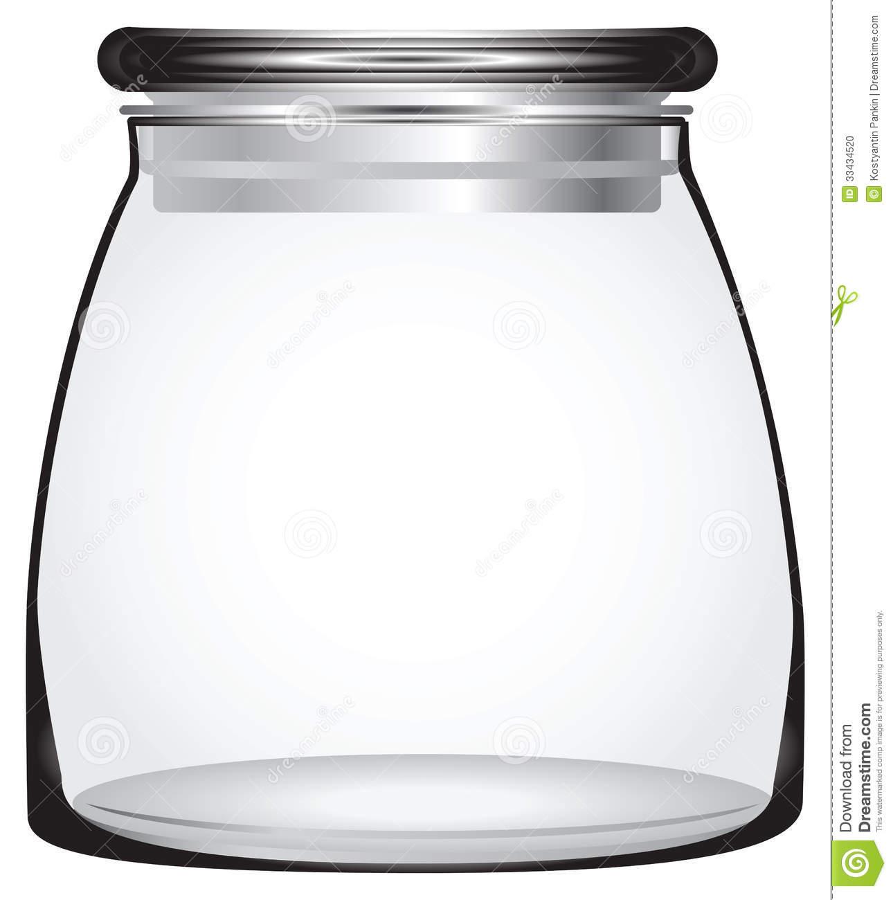 Clear jar clipart.