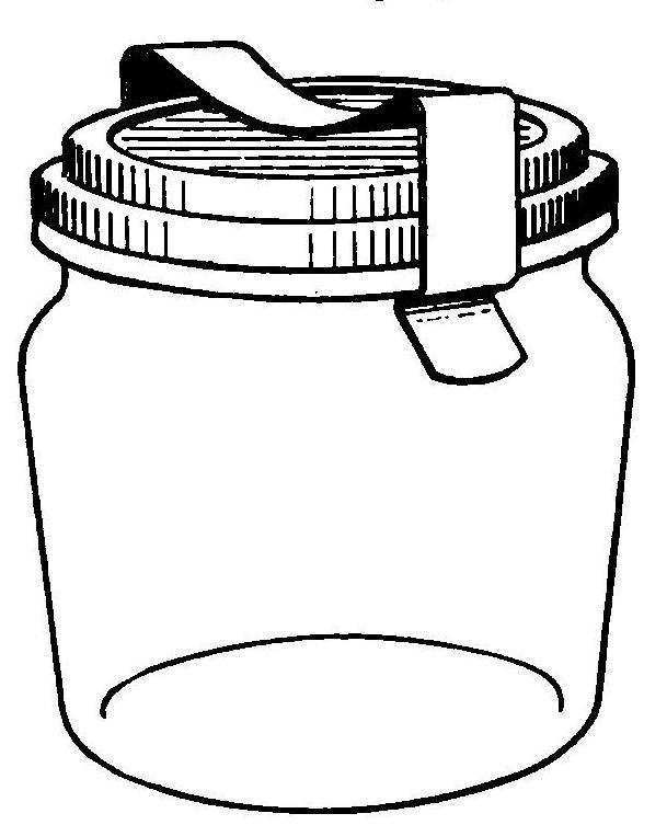 Storage jar clipart #3