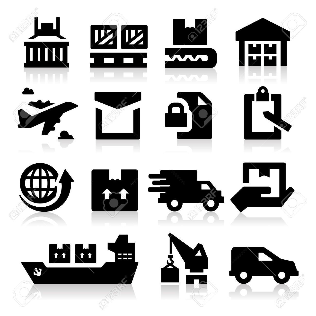 Shipping Icons Royalty Free Cliparts, Vectors, And Stock.