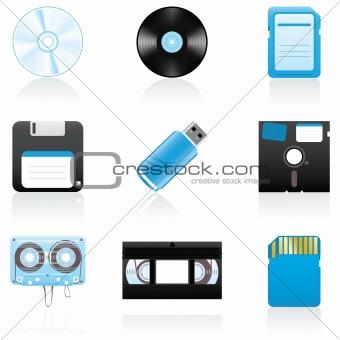 Image 1152578: Icon set Storage media from Crestock Stock Photos.