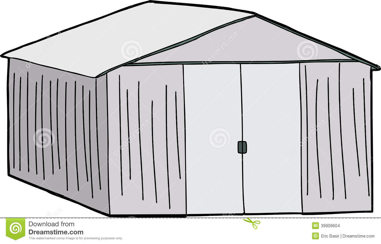 Storage Shed Stock Illustrations.