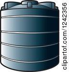 Water storage clipart vector.
