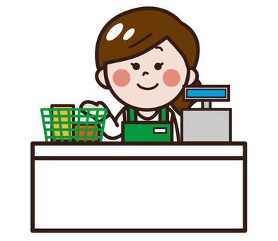 Free Cliparts : A convenience store clerk.