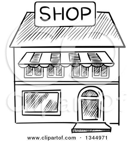 Store clipart black and white 5 » Clipart Portal.