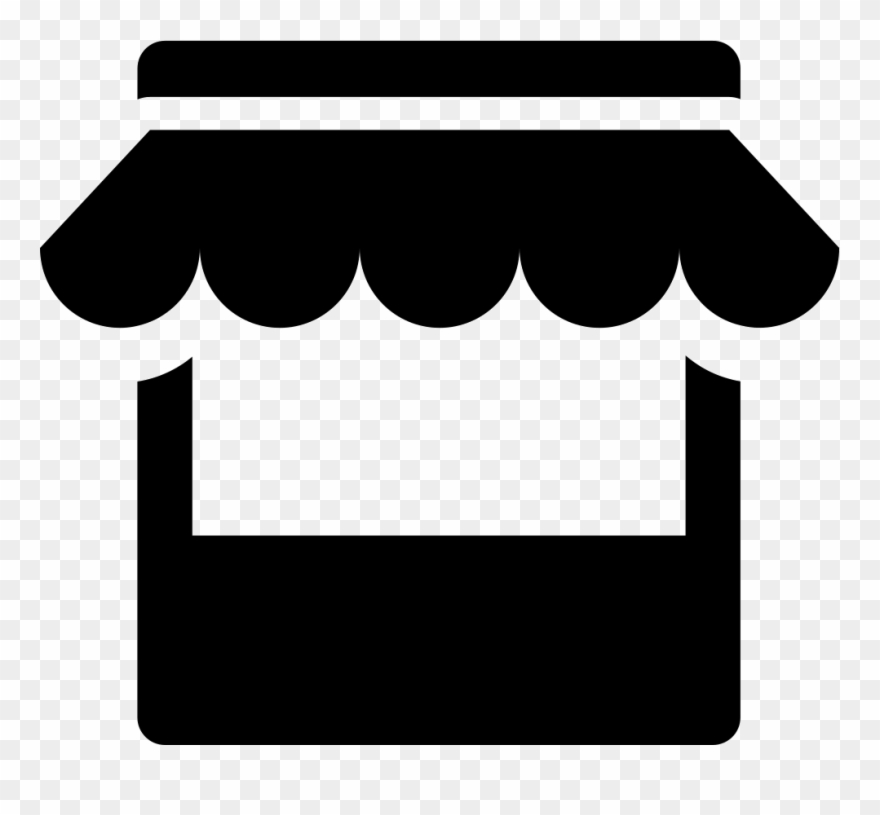 Clipart Black And White Stock Store Svg Png Icon Free.