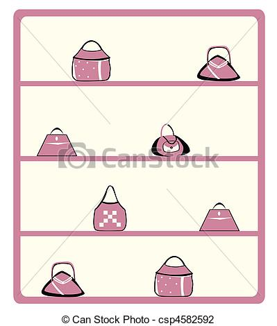 Clip Art of purse display.