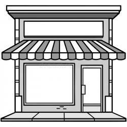 Illustration stock vector of. Storefront clipart black and.