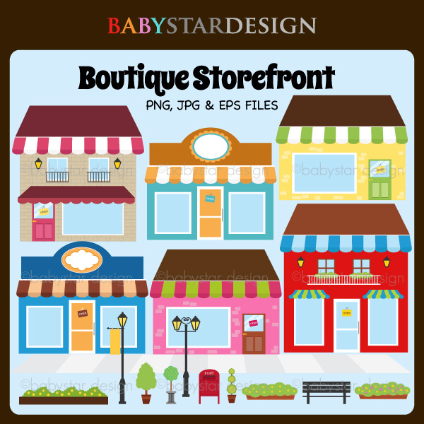 Storefront Clipart.