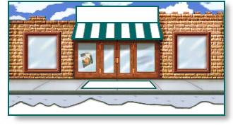 Shopping Clip Art Storefront.