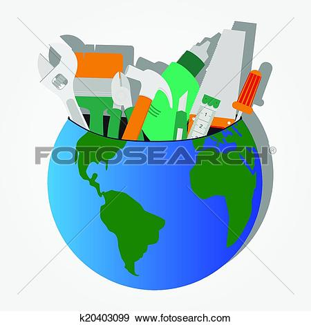 Clip Art of Construction tools stored on the pl k20403099.