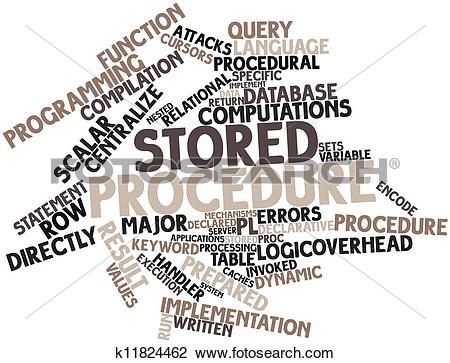 Clip Art of Word cloud for Stored procedure k11824462.