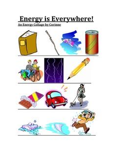 Stored Energy vs. Energy in Action.