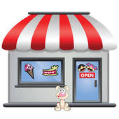candy stores clipart.