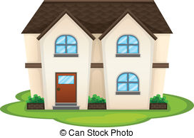 Single story house clipart.