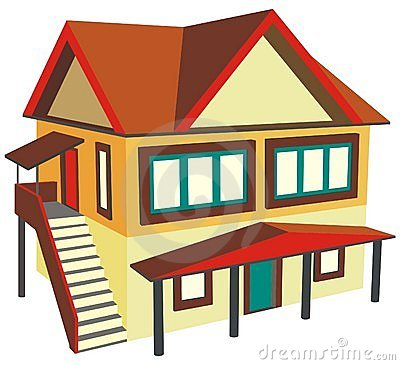 Two House Clipart.