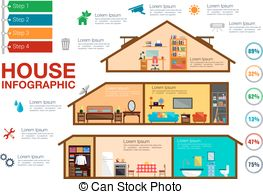 Double storey Vector Clipart Royalty Free. 15 Double storey clip.