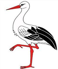 Free Stork Clipart.
