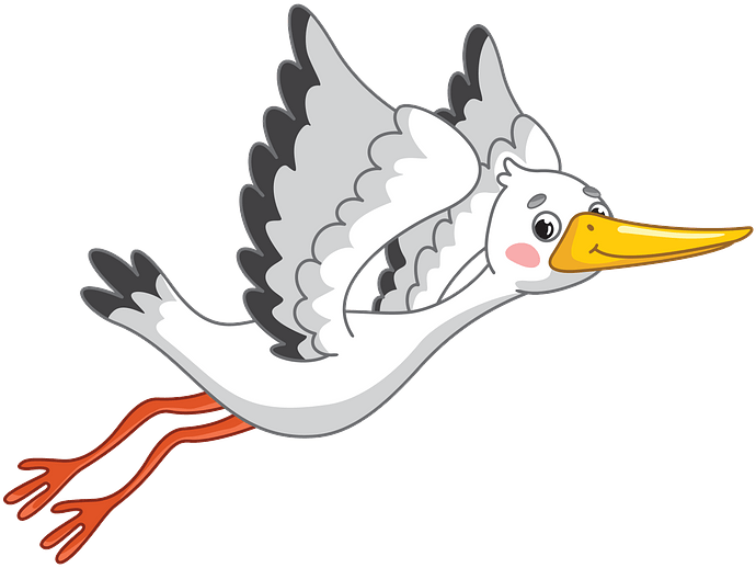 Stork clipart. Free download..