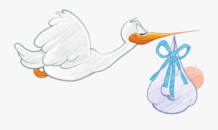 Download Clipart Boy Stork.