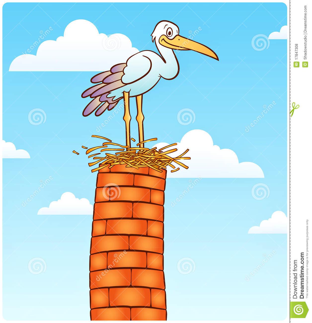 Stork Nest (vector Clip.