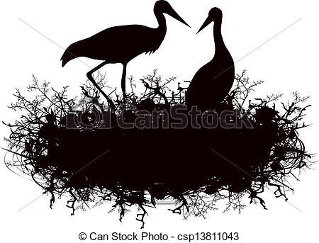 Stork nest Illustrations and Stock Art. 87 Stork nest illustration.