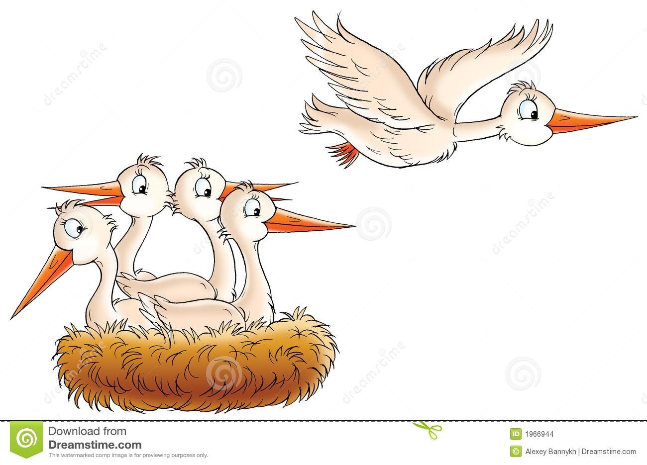 Stork Nest Stock Images.