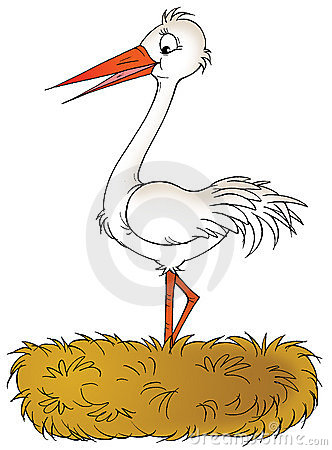 Stork Nest Clip Art Stock Photos, Images, & Pictures.