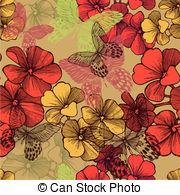 Vector Clip Art of Geranium or Storksbill or Pelargonium zonale.