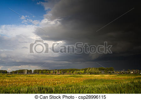 Stock Photography of Storm approaching.